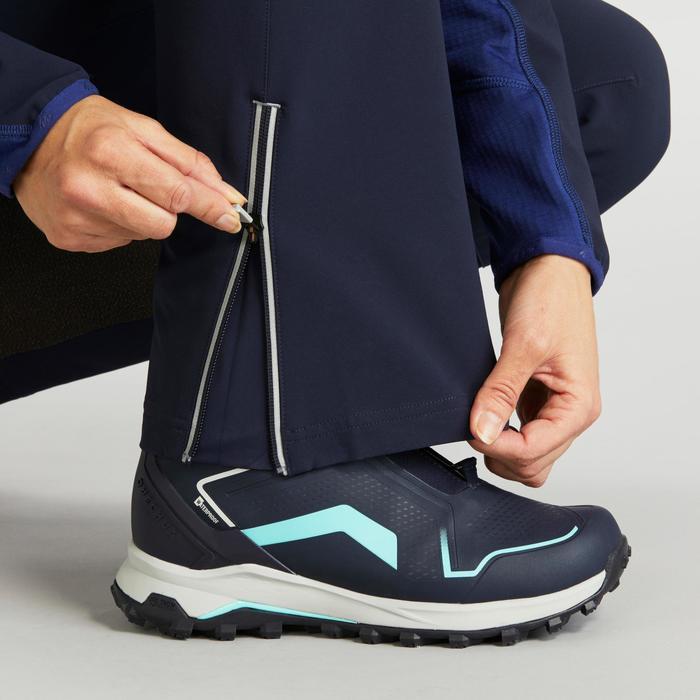 Softshellhose Winterwandern SH900 Warm Damen blau