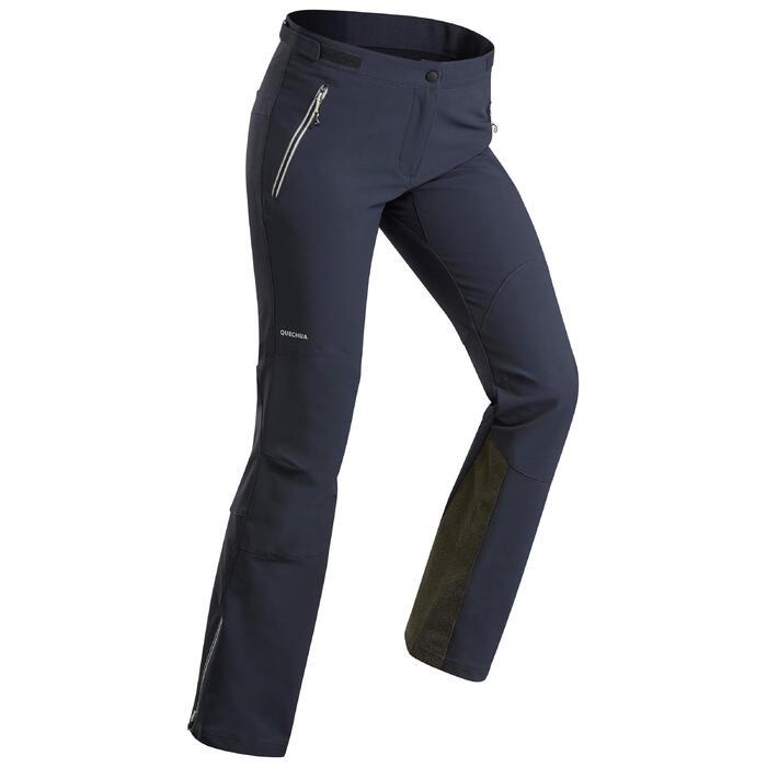 mejor servicio b77ee 7e2b6 Pantalón de senderismo nieve mujer SH900 warm azul