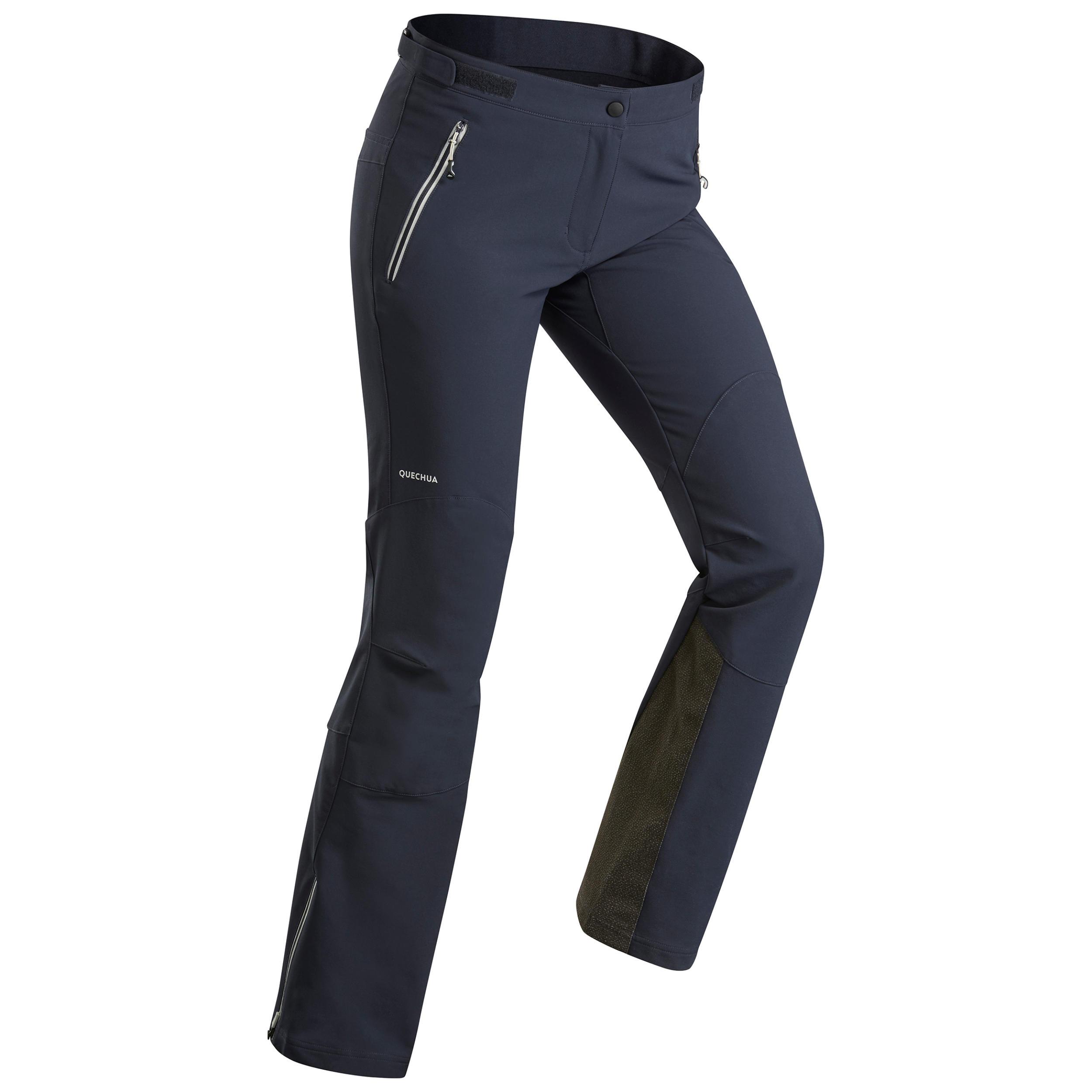 Softshellhose Winterwandern SH900 Warm Damen blau   Sportbekleidung > Sporthosen > Softshellhosen   Blau   Quechua