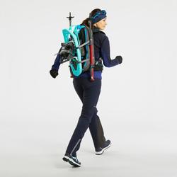 Pantalon chaud de randonnée femme SH900 warm bleu