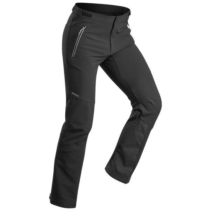 Wandelbroek voor de sneeuw heren SH900 Warm zwart