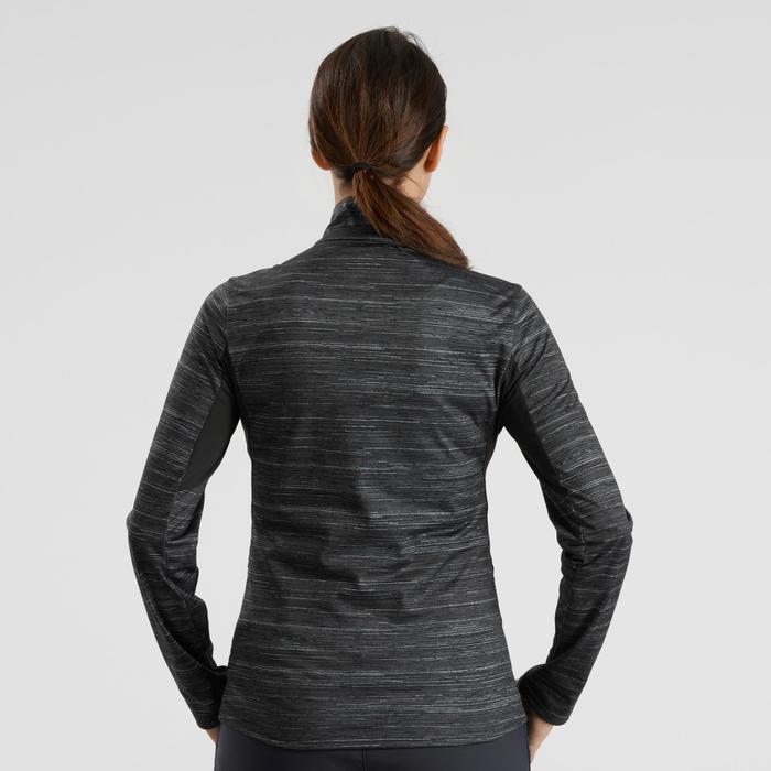 Wandelshirt met lange mouwen voor de sneeuw dames SH500 warm zwart