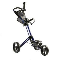 Golftrolley Compact 3-Rad blau
