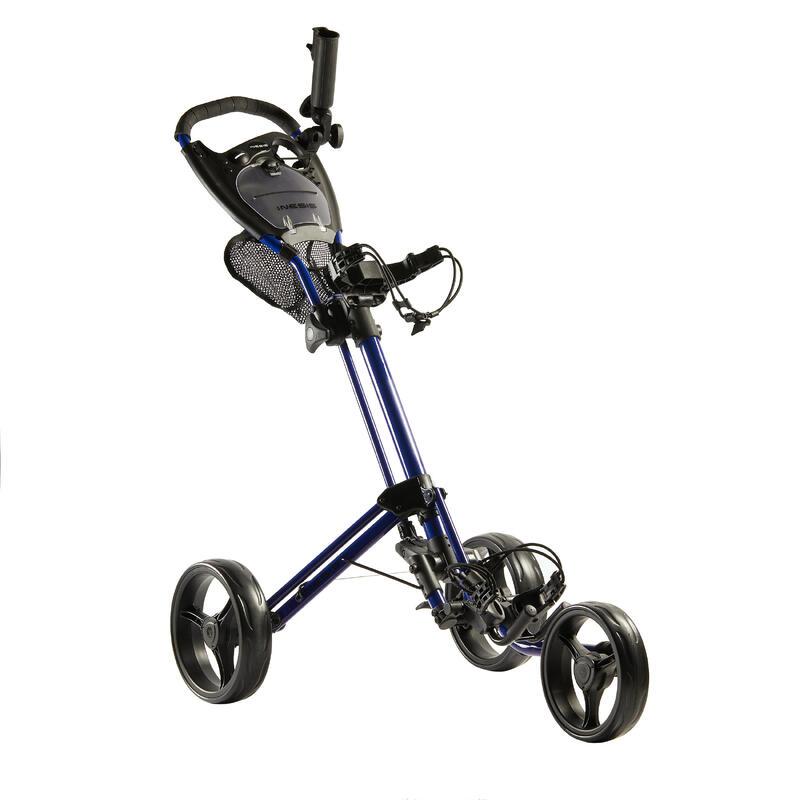 Driewiel golftrolley Compact blauw