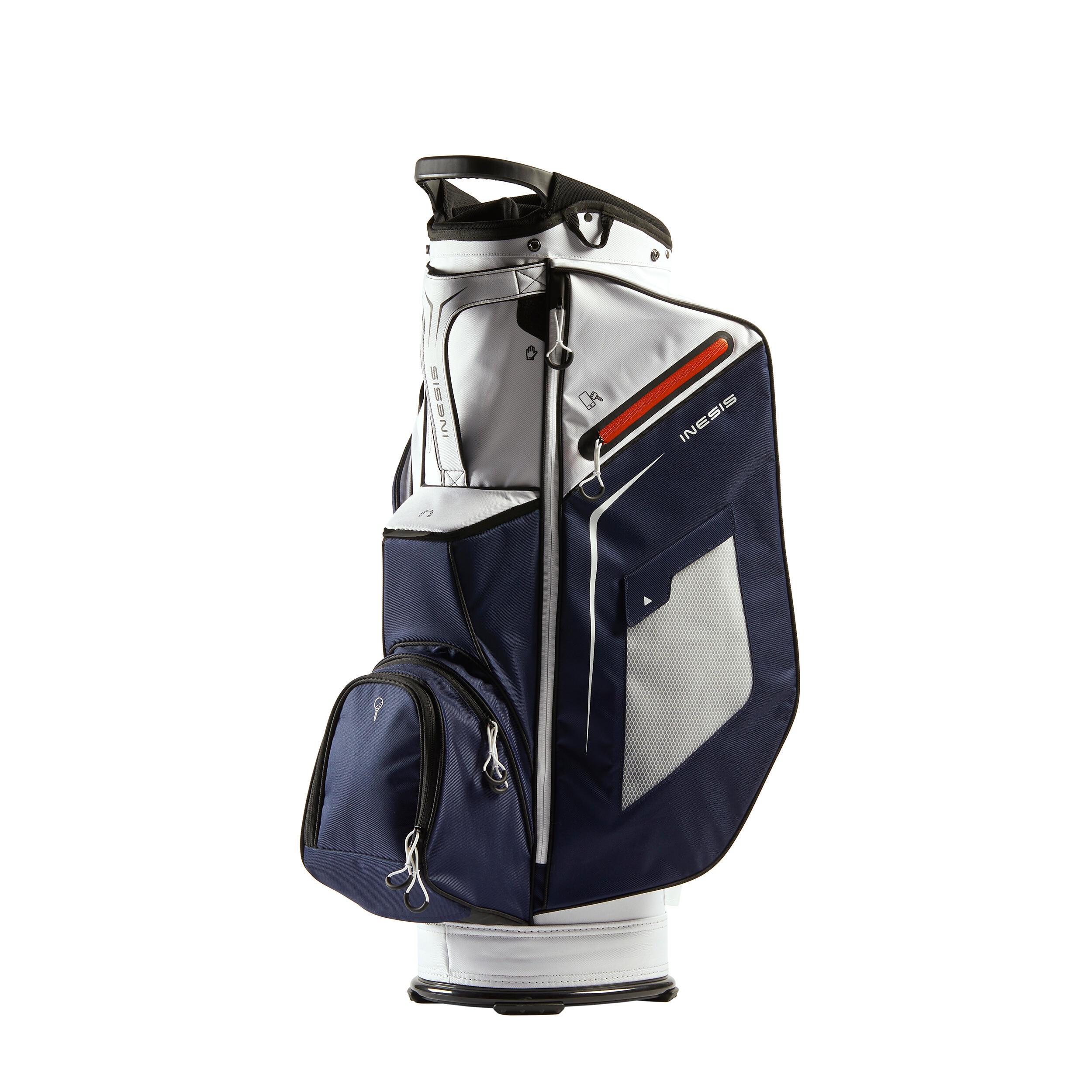 Inesis Cart Bag marineblauw/wit kopen