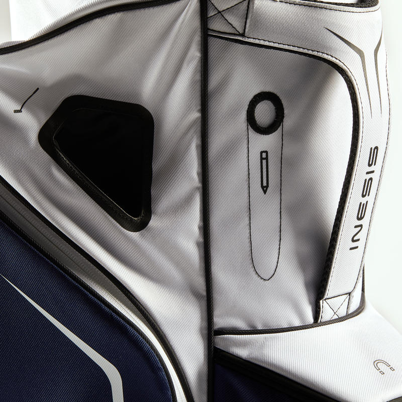 GOLF CART BAG - NAVY/WHITE