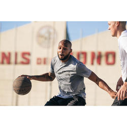 Maillot de basket TS500 Homme Gris Clair Shoot