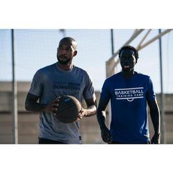 Basketbal T-shirt voor heren TS500 lichtgrijs Shoot