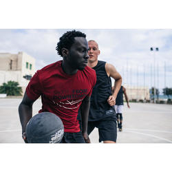 Maillot de basket TS500 Homme Rouge Shoot
