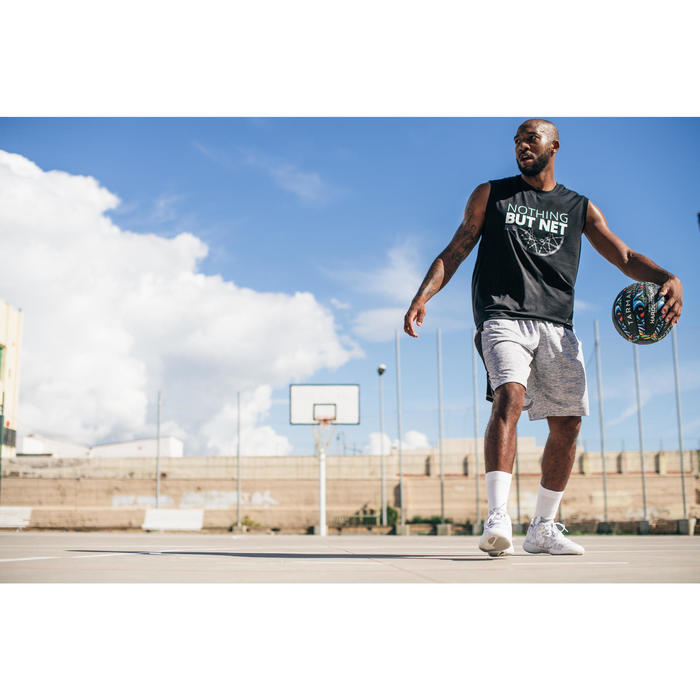 Basketballschuhe SC500 Mid Erwachsene weiß