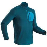 Men's Winter Hiking Long-Sleeve T-shirt SH500 Warm - Blue.