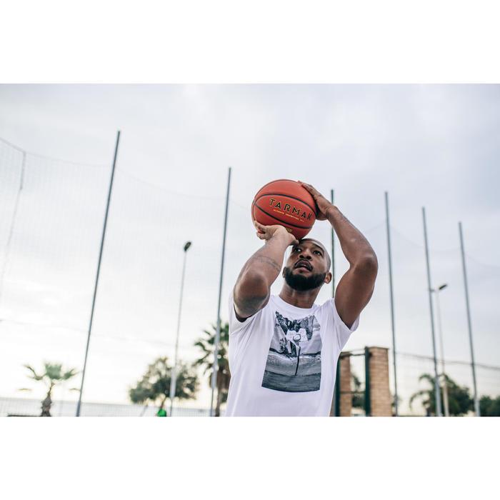 籃球上衣TS500-白色/Photo款