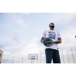 T-SHIRT / MAILLOT DE BASKETBALL HOMME TS500 BLANC PHOTO