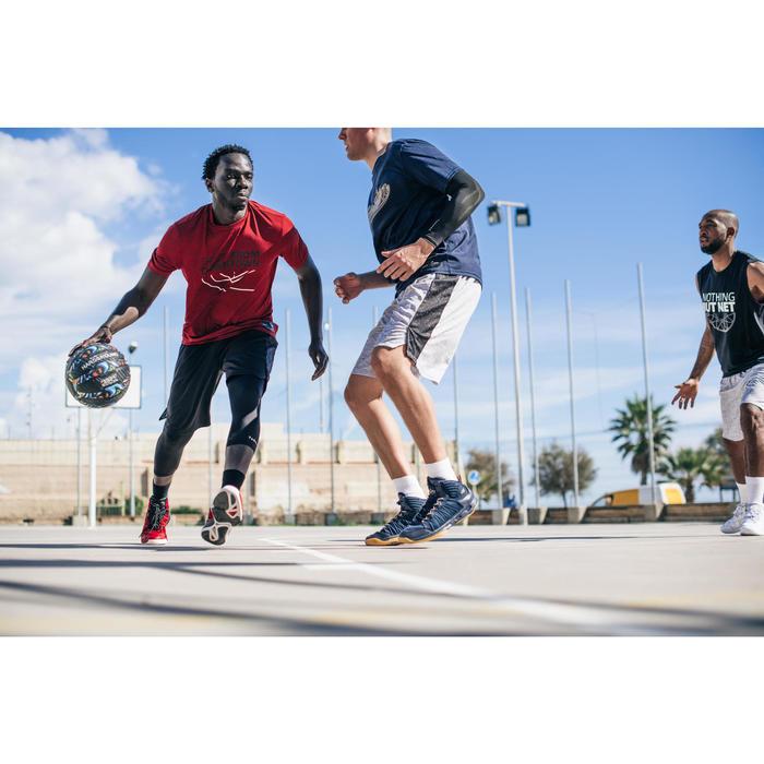 Basketbal voor volwassenen R500 maat 7 graffiti. Kan niet lek, veel grip.