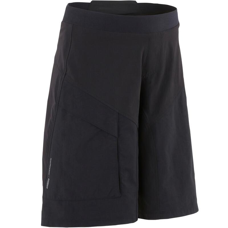 500 Kids' Mountain Bike Shorts - Black