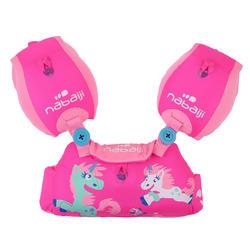 Puddle jumper voor kinderen TISWIM roze met eenhoornprint