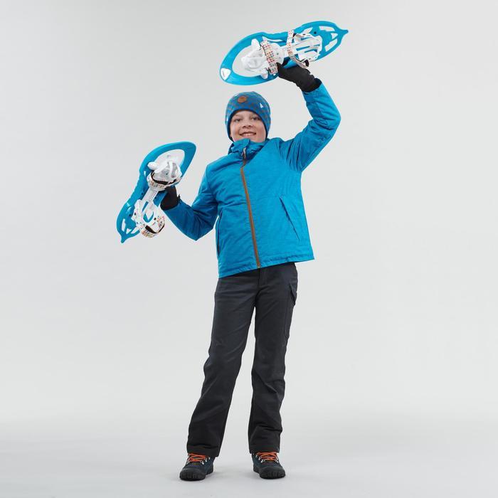 Winterjacke Winterwandern SH100 Warm Kinder Jungen 123–172cm blau
