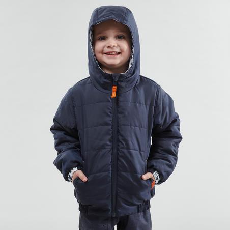 Chamarra cálida de senderismo nieve SH100 WARM niños 2-6 años azul marino