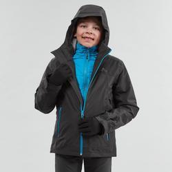 Warme waterdichte 3-in-1 jas voor de sneeuw jongens SH500 X-Warm 8-14 jaar zwart