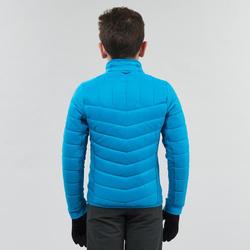 Boys' 7-15 Years Warm Snow Hiking X-Warm 3-in-1 Jacket SH500 - Black