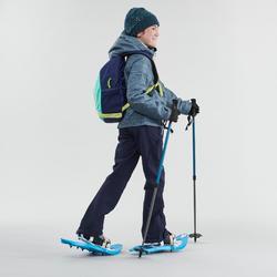 Wanderhose Winterwandern SH500 X-Warm Mädchen 122–170cm blau
