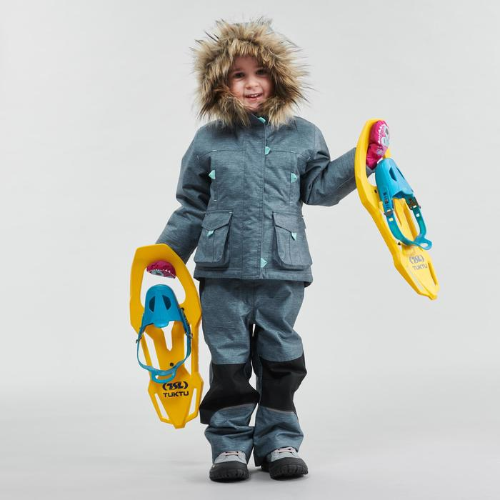 Warme waterdichte wandeljas voor de sneeuw meisjes SH500 U-Warm 2-6 jaar grijs