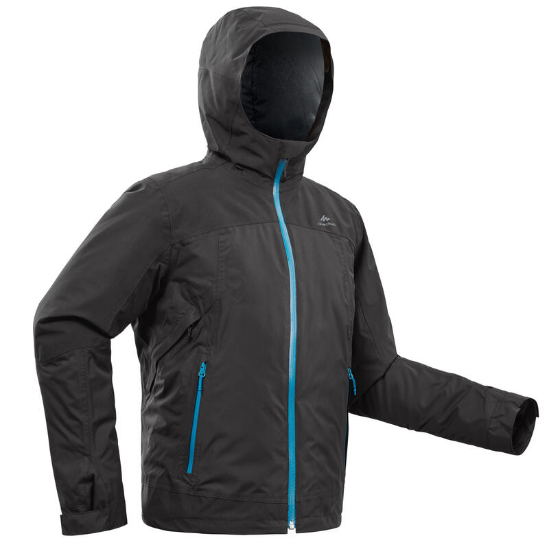 Boy's Warm Waterproof Snow Hiking Jacket SH500 X-Warm 3-in-1 Age 8-14