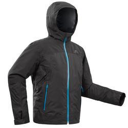 Veste chaude de randonnée neige SH500 X-WARM 3en1 garçon 8-14 ans noire