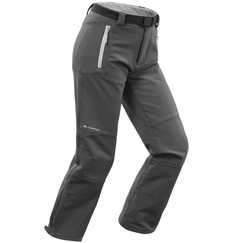 Pantalones de Montaña y Trekking Invierno Niños Quechua SH500 Gris Softshell