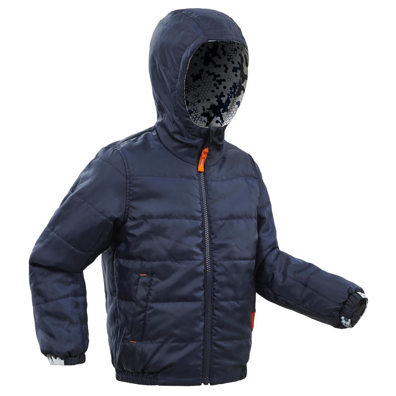 Chaqueta cálida de senderismo nieve SH100 WARM niños 2-6 años azul marino
