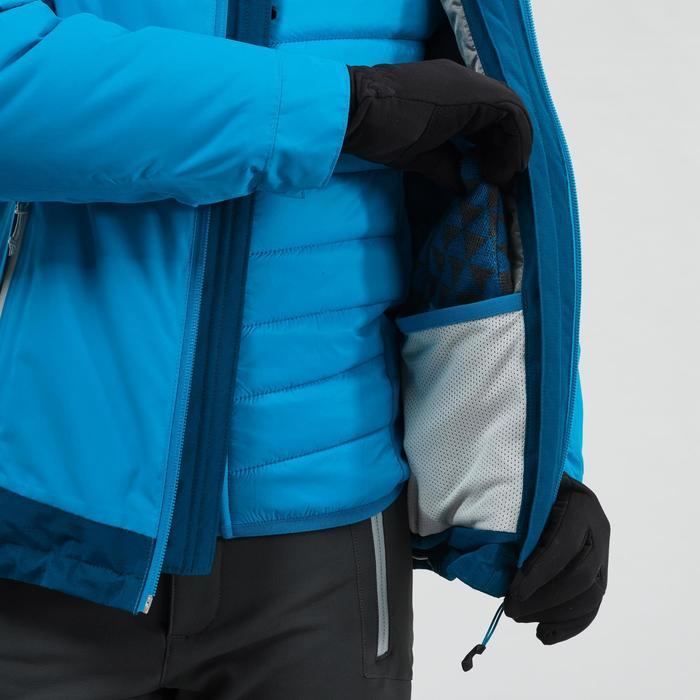 3-in-1-Jacke Winterwandern SH500 Extra-Warm Kinder Jungen 128–164cm blau