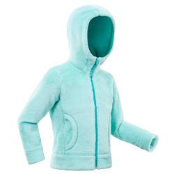 Fleecejacke Winterwandern SH500 Warm Kleinkinder Mädchen 86-116cm grün