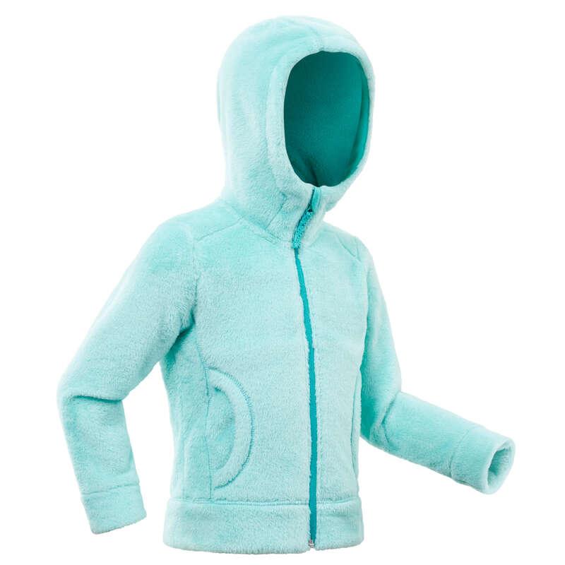 PILE E SOFTSHELL BAMBINA 2-6 ANNI Sport di Montagna - Pile bambina 2-6 anni SH100 WARM verde QUECHUA - Trekking bambino