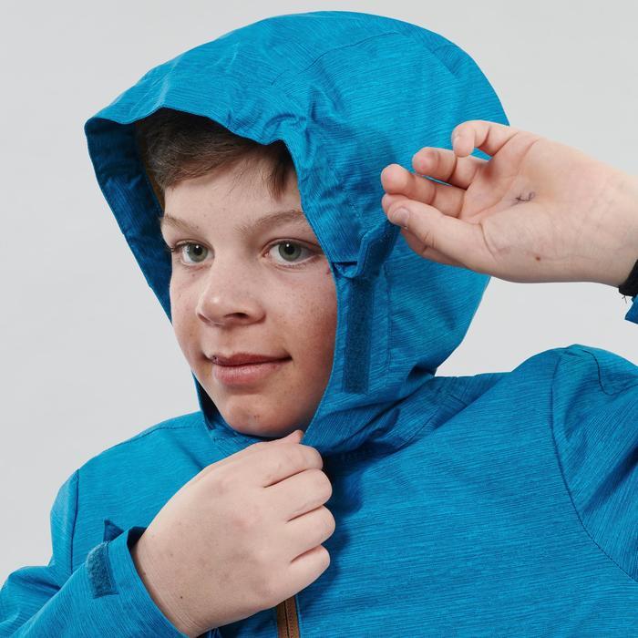 Veste chaude imperméable de randonnée neige SH100 WARM garçon 8-14 ans bleue