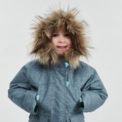 Winterjacke Winterwandern SH500 Ultra-Warm Kleinkinder Mädchen 92–116cm graublau