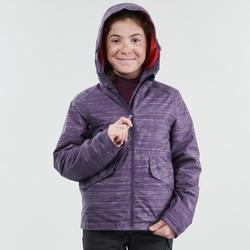 Winterjacke Winterwandern SH100 Warm Kinder lila