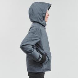 Veste chaude imperméable de randonnée neige SH100 WARM garçon 8-14 ans grise