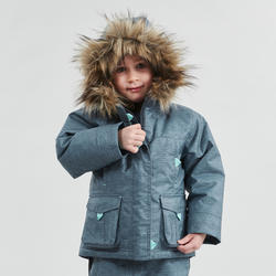 Girls' 2-6 Years Snow Hiking Warm Jacket SH500 U-Warm - Grey