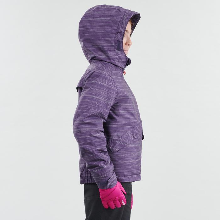 Veste chaude imperméable de randonnée neige SH100 WARM fille 8-14 ans mauve
