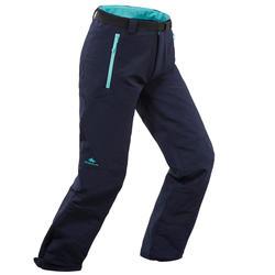 Girl's warm hiking trousers SH500 X-WARM - age 7-15 - Blue