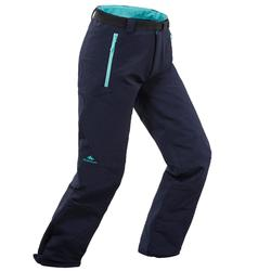 Pantalón de senderismo nieve SH500 X-WARM niñas 7-15 años azul