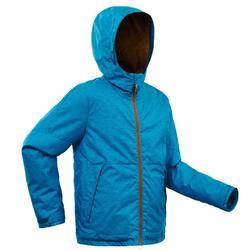 Veste chaude de randonnée neige SH100 WARM garçon 8-14 ans bleue