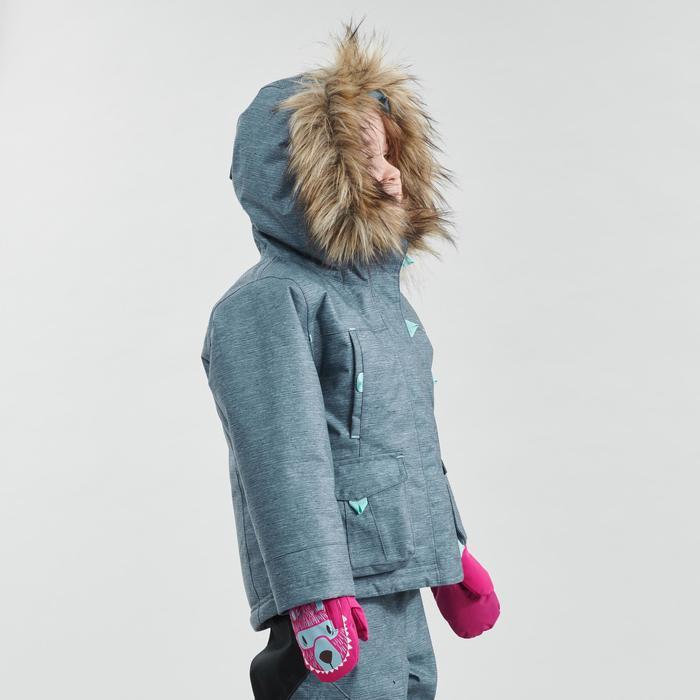 Veste chaude imperméable de randonnée neige SH500 U-WARM fille 2-6 ans grise