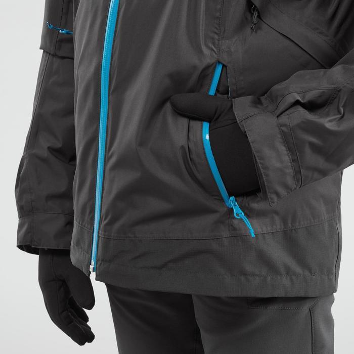 3-in-1-Jacke Winterwandern SH500 Extra-Warm Kinder Jungen 128-164cm schwarz