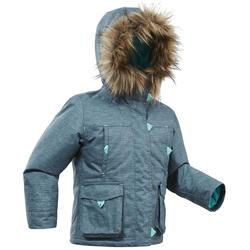 Veste chaude de randonnée neige SH500 U-WARM fille 2-6 ans grise