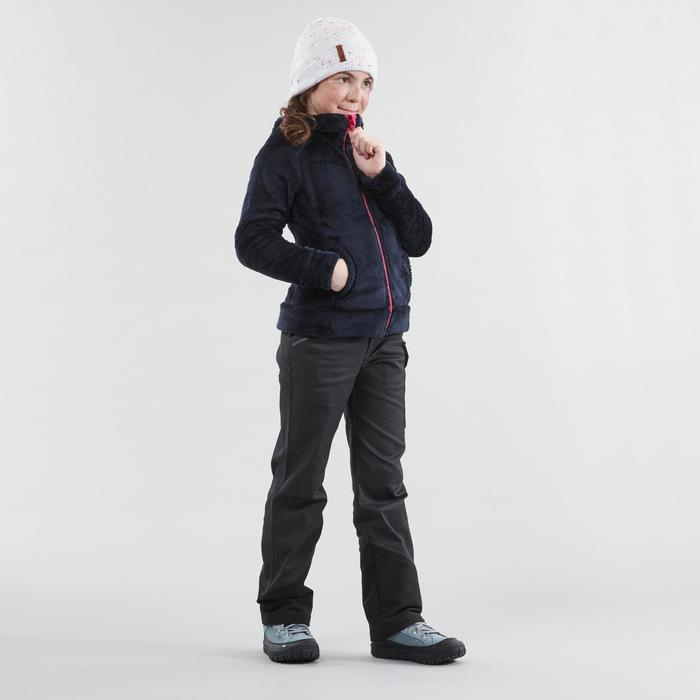兒童款保暖鞋帶式雪地中筒健行靴SH500-冰雪款