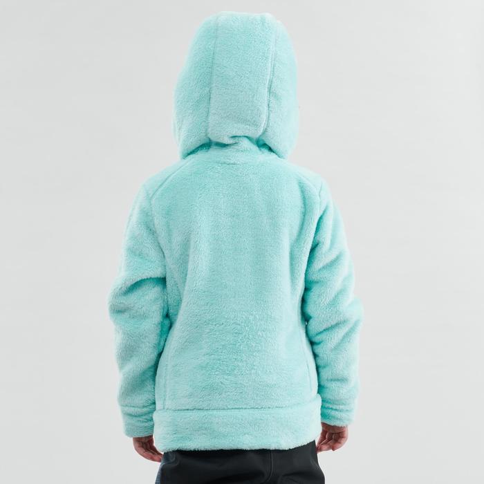 Fleecejacke SH500 warm Wandern Kinder 2–6 Jahre grün