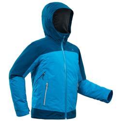 Boy's age 8-14 3in1 warm Snow Hiking Jacket SH500 X-WARM - Blue