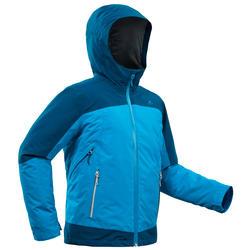 Warme 3-in-1 wandeljas voor de sneeuw jongens SH500 X-Warm 8-14 jaar blauw