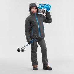 Pantalón cálido de senderismo SH500 X-WARM niño 7-15 años gris
